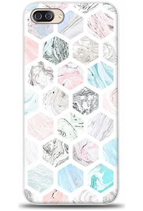 Exclusive Zenfone 4 Max ZC554KL Renkli Arı Peteği Desenli Kılıf