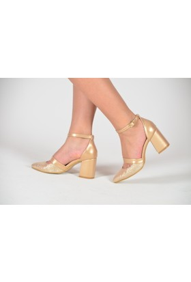 AbiyeSultan Kalın Topuklu Stiletto Ayakkabı-AS5048