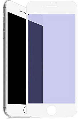 AntDesign Anti Blue Light iPhone 6/6S/7/8 Plus Mat Cam Ekran Koruyucu Beyaz