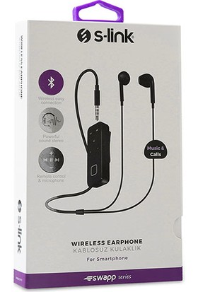 S-Link Swapp SWBT10 Bluetooth Kulaklık Siyah