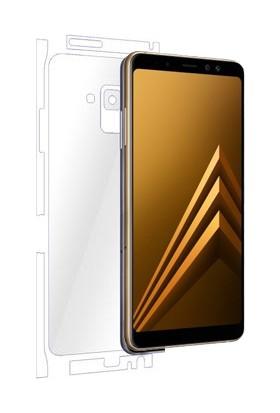 AntDesign Samsung Galaxy A8 2018 TPU Arka Ve Yan Yüz Ekran Koruyucu Film