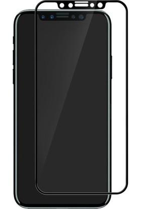 Lito Tempered Glass Renkli iPhone X Cam Ekran Koruyucu Siyah