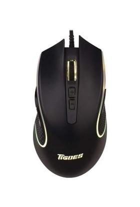 Tigoes GM338 USB Siyah 1000-4800DPI Oyuncu Mouse