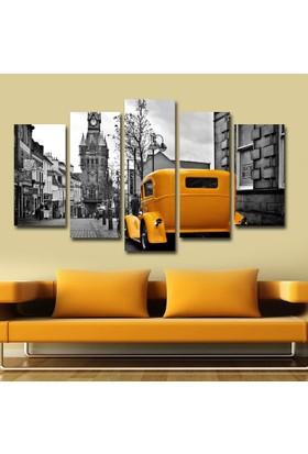 Agf Tablo Sarı Araba Dekoratif 5 Parça Mdf Tablo