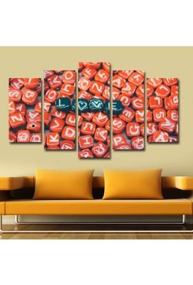 Agf Tablo Aşk Temalı Dekoratif 5 Parça Mdf Tablo