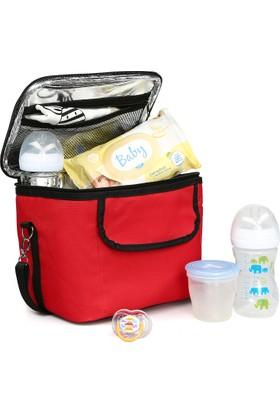 Babybee Termal Mama ve Biberon Koruyucu Çanta Kırmızı