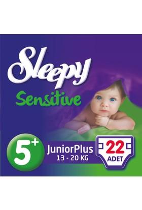 Sleepy Sensitive Bebek Bezi 5+ Beden Junior Plus Jumbo Paket 22 Adet