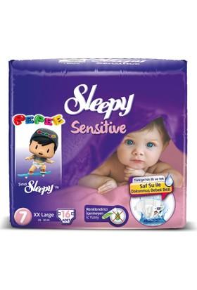 Sleepy Sensitive Bebek Bezi 7 Beden XXL Jumbo Paket 16 Adet