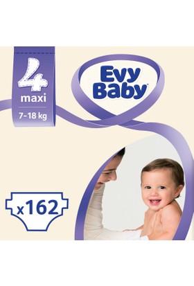 Evy Baby Bebek Bezi 4 Beden Maxi Aylık Fırsat Paketi 162 Adet