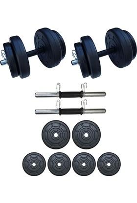 Dambılcım 20 KG Dambıl Seti Ağırlık ve Vücut Geliştirme Aleti 20 KG Spor Dumbell Set