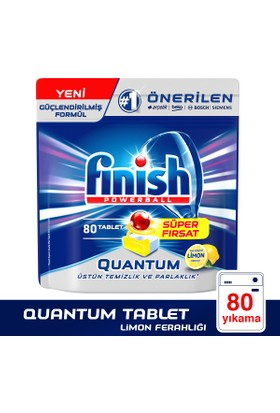 Finish Bulaşık Makinesi Deterjanı Quantum Tablet 80'li Limon Ferahlığı