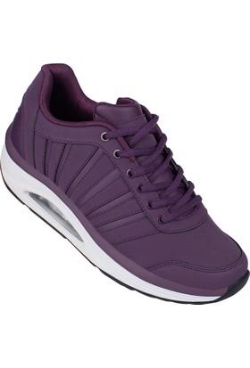 Lescon L-6118 Mürdüm Bayan Easystep Spor Ayakkabı