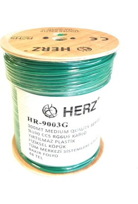 Herz Rg6U6 Uydu Anten Kablosu 300Metre Yeşil