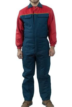 Şensel İş Tulumu Kapitoneli Soğuk Hava Tulumu İş Elbisesi