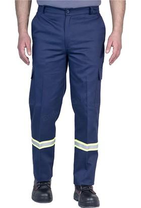 Şensel İş Pantolonu Reflektörlü Komando Cepli İş Elbiseleri (Lacivert)