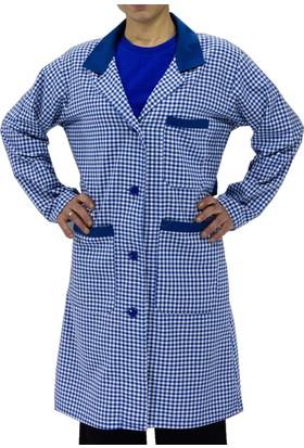 Şensel İş Önlüğü Bayan Pötikare %100 Pamuk İş Elbiseleri