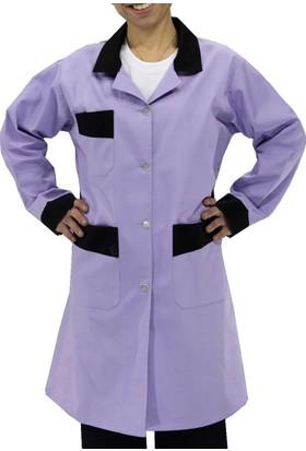 Şensel İş Önlüğü Bayan Alpaka İş Elbisesi (Lila)