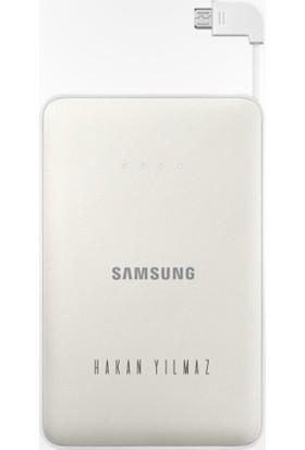Leydi Collection Kişiye Özel İsimli Samsung 11300 mAh Taşınabilir Beyaz Şarj Cihazı