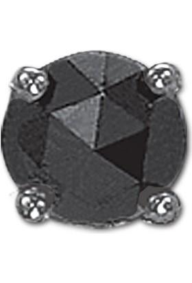 Ariş Pırlanta 0.19 Karat Siyah Pırlanta Erkek Küpesi