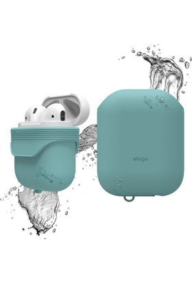 Elago Apple Airpods Su Geçirmez Kılıf Waterproof Case Coral Blue