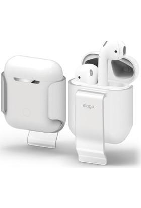 Elago Apple Airpods Klipsli Kılıf Airpods Carrying Clip Frosted Transparent