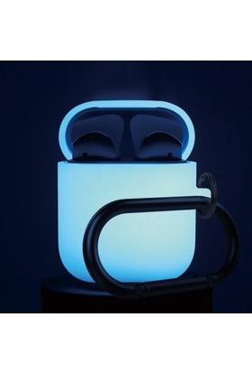 Elago Apple Airpods Askılı Silikon Kılıf Hang Case Night Glow - Fosforlu