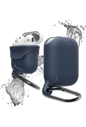 Elago Apple Airpods Su Geçirmez Askılı Silikon Kılıf Waterproof Hang Case - Lacivert