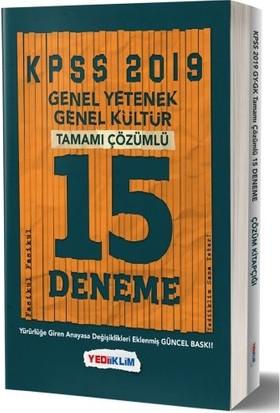 Yediiklim Yayınları 2019 KPSS Genel Yetenek - Genel Kültür Tamamı Çözümlü 15 Fasikül Deneme