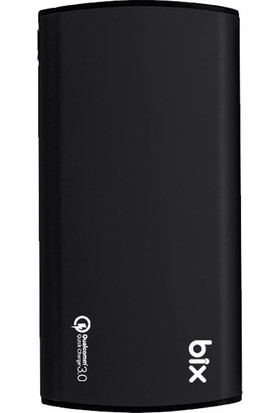 Bix HB-Q10 Çift Çıkışlı 10000 mAh QualComm 3.0 QC Taşınabilir Şarj Powerbank