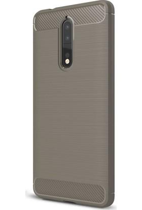 Microcase Nokia 8 Brushed Carbon Fiber Silikon TPU Kılıf