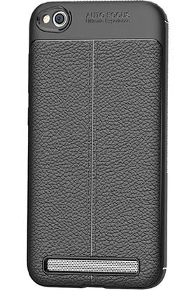 "Microcase Xiaomi Redmi 5A 5.0"" Leather Effect TPU Silikon Kılıf"