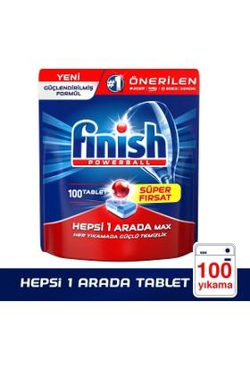 Finish Bulaşık Makinesi Deterjanı Hepsi Bir Arada Tablet 100'lü