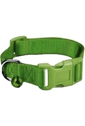 Dokuma Kedi Köpek Tasması Min:20-Max:30 Cm Yeşil