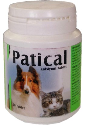 Zootech Patical Kedi Köpek Kalsiyum Tablet 50 Adet