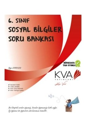 Koray Varol Akademi KVA 6. Sınıf Sosyal Bilgiler Soru Bankası