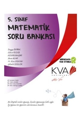 Koray Varol Akademi KVA 5. Sınıf Matematik Soru Bankası