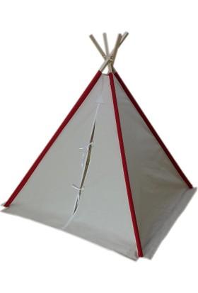 Janbebe Ahşap Kızılderili Minderli Oyun Uyku Evi
