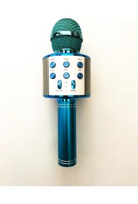 Leyaton Profesyonel Ses Kaydı Yapabilen Eğlenceli Karaoke Mikrofon Ws858 Blue