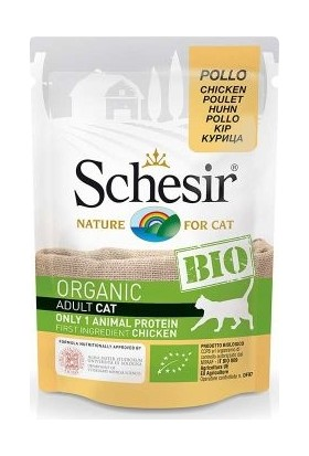 Schesir Bio Range Tavuklu Pouch Kedi Konservesi 85 gr