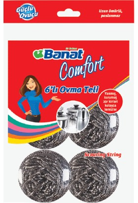 Banat Comfort 6'Lı Bulaşık Ovma Teli