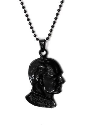 Modaroma Atatürk Siyah Zincirli Kolye