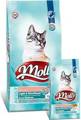 Molly Light & Sterilised Somonlu Kedi Maması 2 Kg
