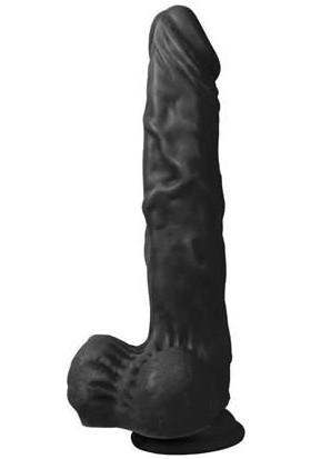 XS 21 cm Vantuzlu Titreşimli Realistik Vibratör Zenci Penis Dildo