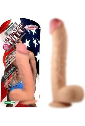 Xise 33 cm Vantuzlu Gerçekçi Kalın Realistik Penis Dildo