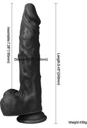 Xise 21 cm Vantuzlu Gerçekçi Realistik Zenci Penis Dildo