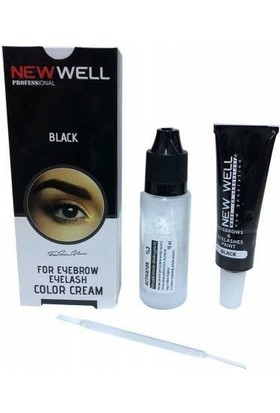 New Well Makeover Black Kaş Kirpik Boyası Siyah