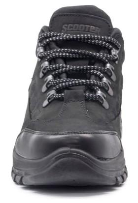 Scooter Erkek Outdoor Ayakkabısı M1415Cs Siyah Su Geçirmez Deri Ayakkabı Crazy Siyah