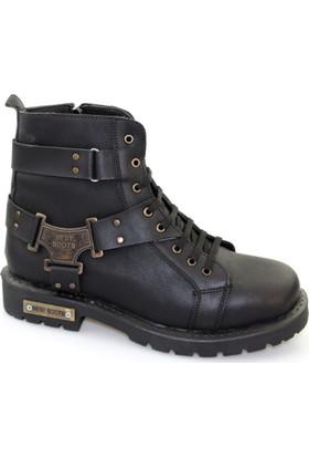 Freeland Shoes Collection Siyah Deri Erkek Bot