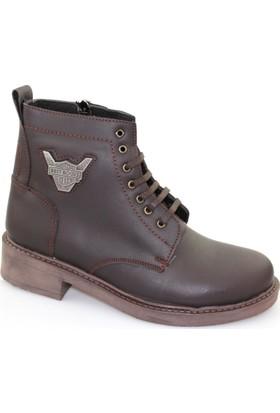 Freeland Shoes Collection Kahverengi Deri Erkek Bot