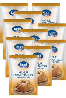 Kent Hamur Kabartma Tozu 5 Li 10'Lu Paket